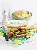Gourmet prawn sandwich