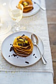 Mille feuille with chocolate