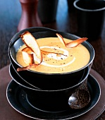 Parsnip soup with parsnip crisps