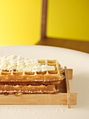 Waffles with coconut