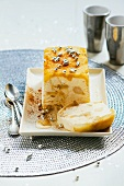 Semifreddo with pear confit for Christmas