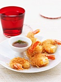 Prawns in crispy batter