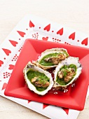Oysters in herb sauce