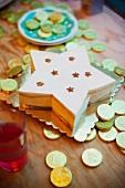 Tiramisu and chocolate coins for New Year