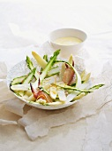 Asparagus salad with crab