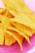 Lots of tortilla chips (close-up)