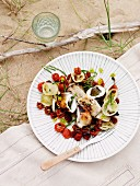 Grilled calamari with sundried tomatoes and wild fennel