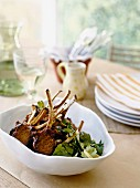 Lamb chops with chermoula crust