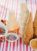 Eistüten und Zuckerstreusel