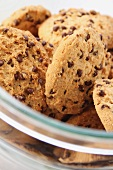 Chocolate chip cookies in a bowl