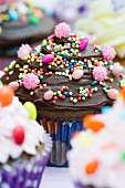 A chocolate cupcake for a party
