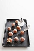 Mini doughnuts with sugar