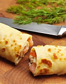 Crepes with shrimp