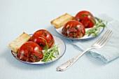 Beef tartar and caviar aspic