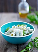 Rigatoni with ricotta and basil