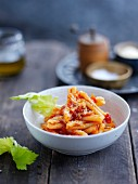 Pasta with tomatoes and celery