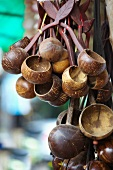 Cooking utensils made from coconut shells