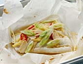 Cod en papillote, Chinese style