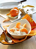 Yogurt with tangerines and ginger