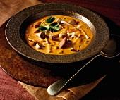 Autumnal mushroom soup