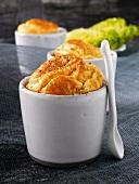 Souffle a la mimolette (cheese)