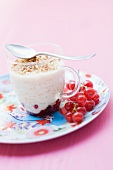 Rice pudding with red currants