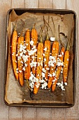 Baked carrots with feta and balsamic vinegar
