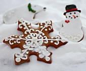"Decorated Christmas Cookies in ""Snow"""
