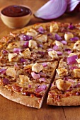 Grilled Chicken and Red Onion Pizza