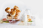 Apple muffins with cereal grains