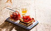 Halloumi with quince jelly