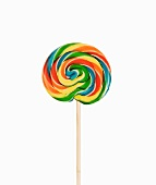 A coloured lollipop