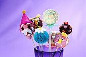 Assorted cake pops for a child's party