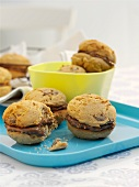 Whoopie pies with peanut butter and chocolate chips
