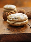 Coffee and walnut whoopie pies