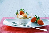 Bircher muesli with strawberries