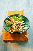 Kohlrabi and carrot salad with spring herbs
