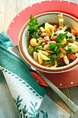 Minestrone with pasta shells