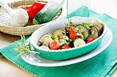 Pan-fried vegetables with courgette, aubergines and peppers (France)