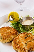 Two Giant Crab Cakes with Dipping Sauce