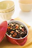 Bean stew with wild rice