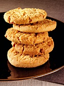 Ginger biscuits, stacked