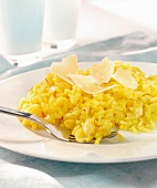 Risotto with saffron and parmesan