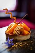 Individual pumpkin pie with nougat cream