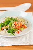 Coconut soup with prawns