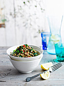 Indian lentils with spinach