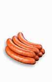 Seven boiled Polish sausages