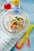 Carrot quark with chives