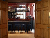 The bar at Jamie's Italian restaurant in Cheltenham, England