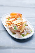 Tartar of sea bass with nectarines